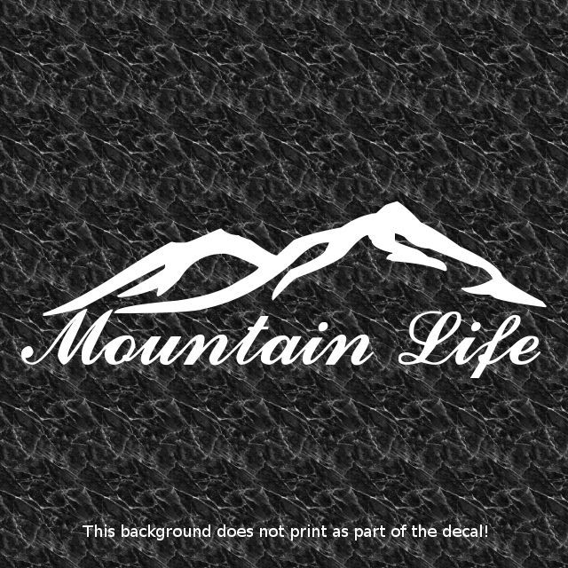 details about mtn life mountain decal rough terrain offroad offroading 4x4 truck awd mud muddy