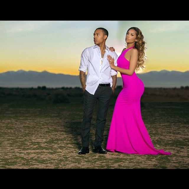 Erica Mena and Bow Wow Go Glamorous For Engagement Shoot (PHOTOS)