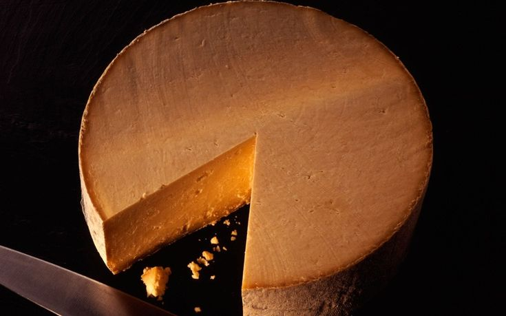 Red Leicester cheese. The red color comes from adding annatto
