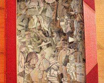 Buch Papier Kunst-Skulptur  Buch  verändert Ein von MalenaValcarcel