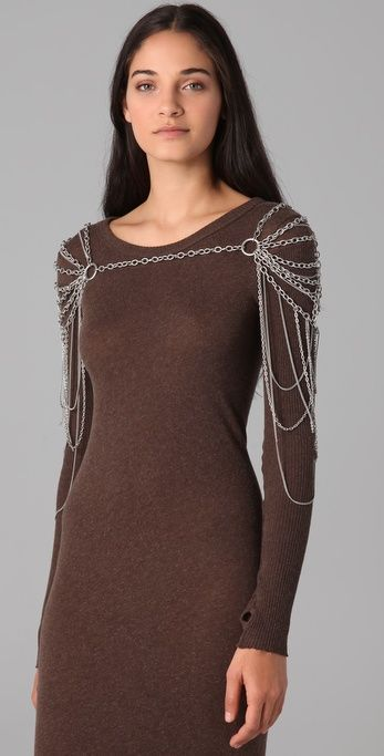 Cornelia Webb Draped Shoulder Piece - Dan needs to learn chainmailing so he can make me this. :)