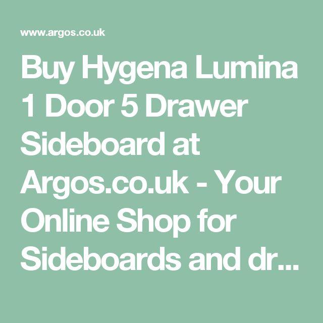 Buy Hygena Lumina 1 Door 5 Drawer Sideboard At Argoscouk