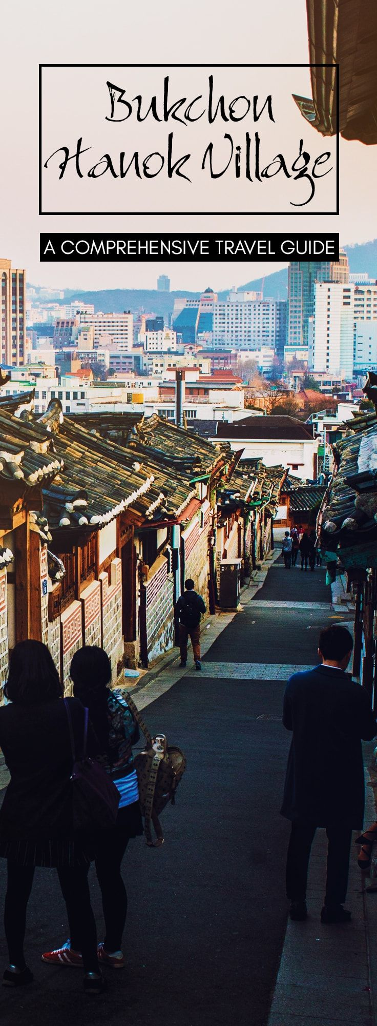 Seoul Travel Guide: Bukchon Hanok Village (북촌한옥마을) is a residential area north of central Seoul, South Korea, between Gyeongbokgung and Changdeokgung palaces. It contains Seoul's largest concentration of hanoks in one area.