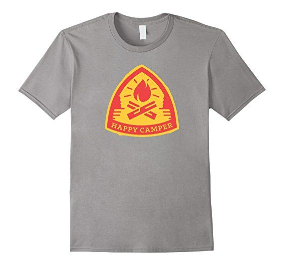 Amazon.com: Happy Camper T-shirt Gift for Scout Kids: Clothing