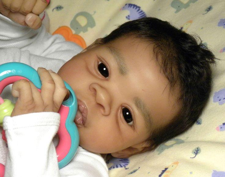 "AMAZING Reborn Ethnic AA Biracial Baby Boy ""Asriel"" by Jorja Pigott"
