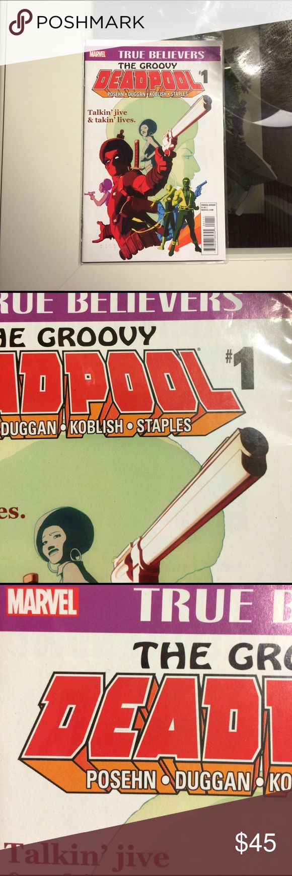 "1st PRINT TGE GROOVY DEADPOOL COMIC Rated ""PARENTAL ADVISORY"". NEW. UNREAD. STILL IN ORIGINAL SLEEVE COVER! Marvel Other"