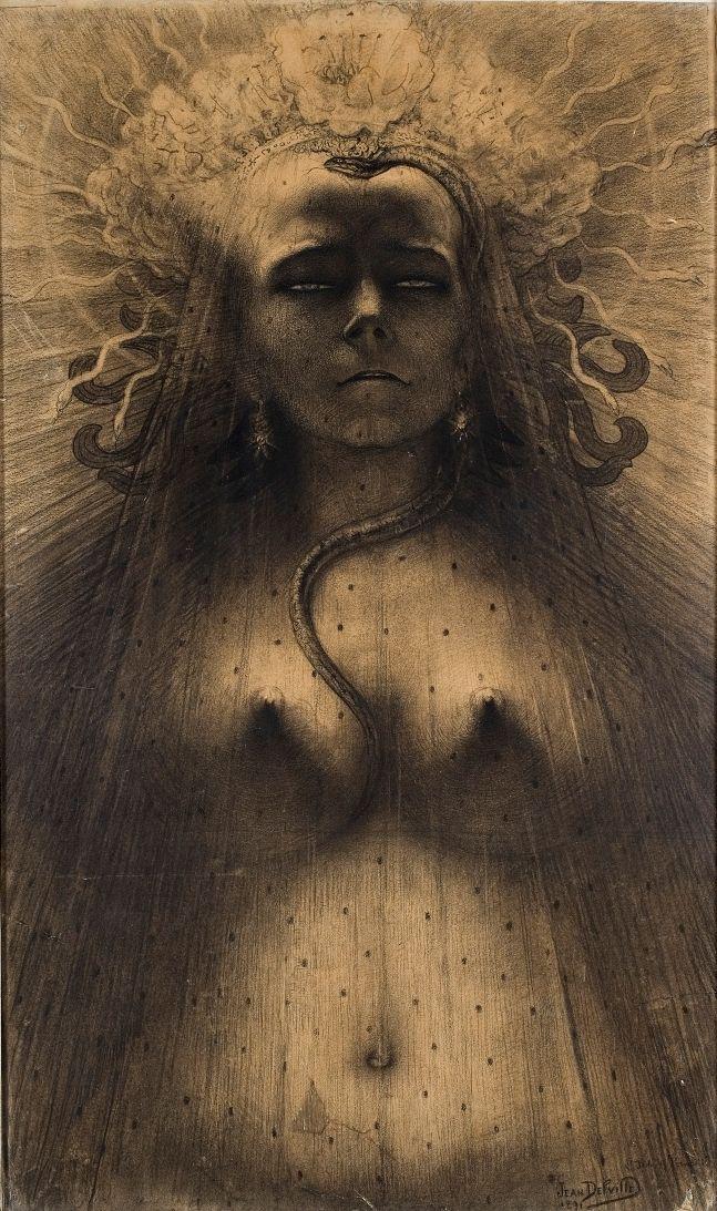 L'idole de la perversité (1891) Jean Delville