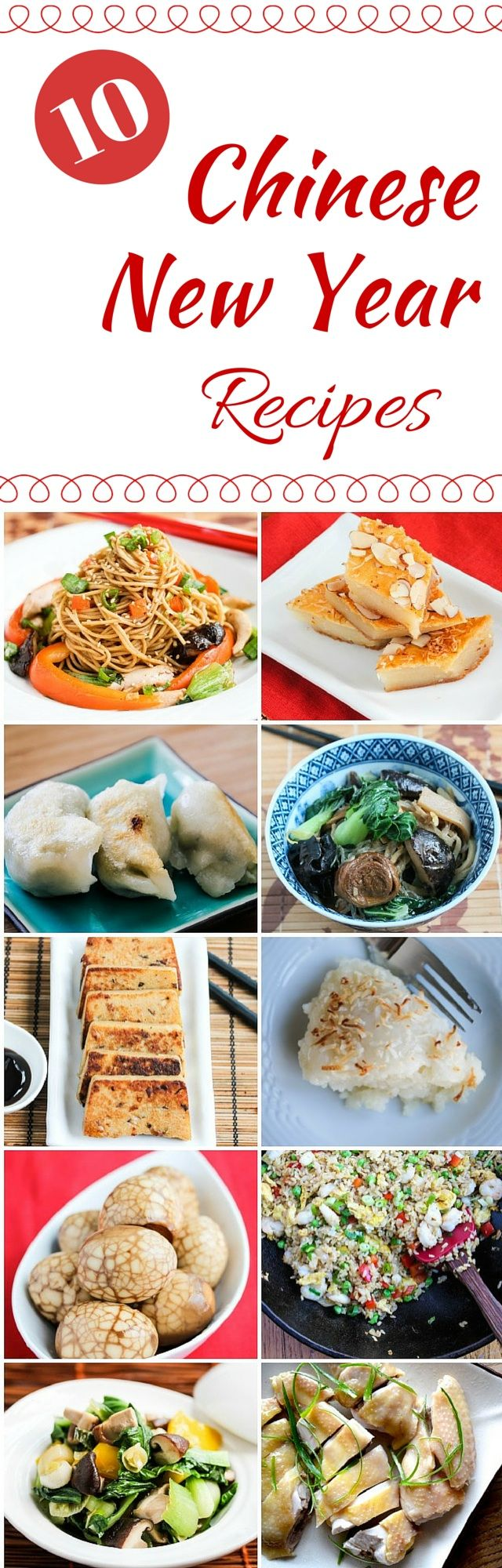 10 Chinese New Year Recipes - Celebrate Chinese New Year with these symbolic foods for a prosperity, longevity, unity, fertility, luck, happiness, and good fortune ~ http://jeanetteshealthyliving.com #fcpinpartners