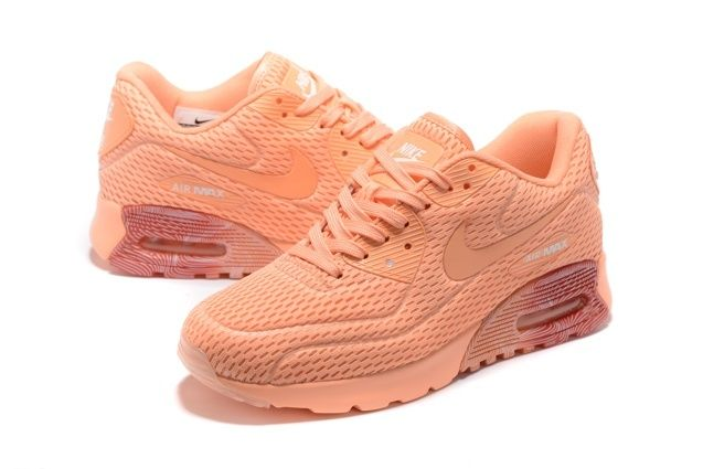 WMNS Nike Air Max 90 Ultra BR Breathe Shoes Orange Total