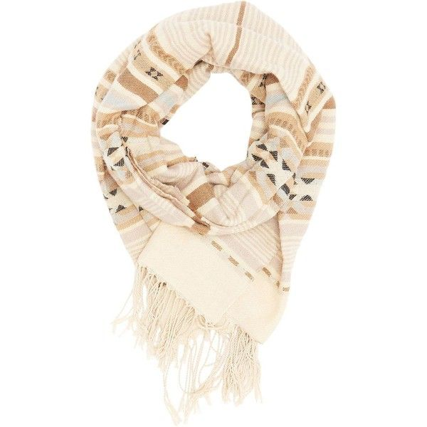 Charlotte Russe Aztec Fringed Oblong Scarf ($15) ❤ liked on Polyvore featuring accessories, scarves, brown combo, fringe scarves, charlotte russe, brown scarves, fringe shawl and charlotte russe scarves