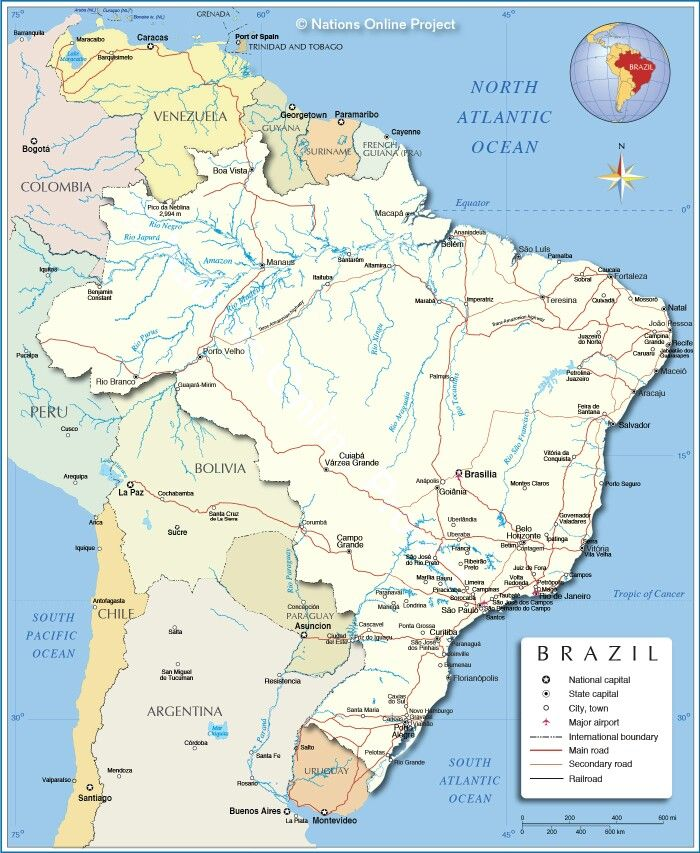 27 best countries we visited images on pinterest maps countries brazil map sciox Images