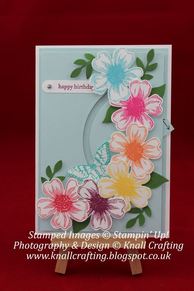 356 best card fold tutorials layout ideas images on pinterest arcing slider card example uses su flower shop and pansy punch flowers bird m4hsunfo