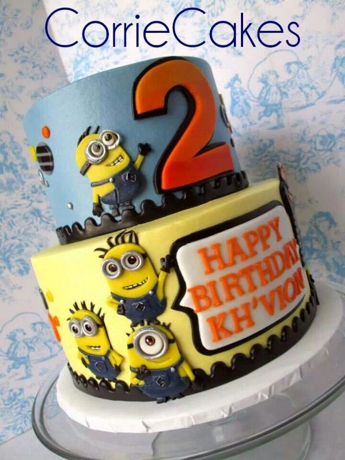 Two-tier Minion Cake - this one is by CorrieCakes.  There are others too.