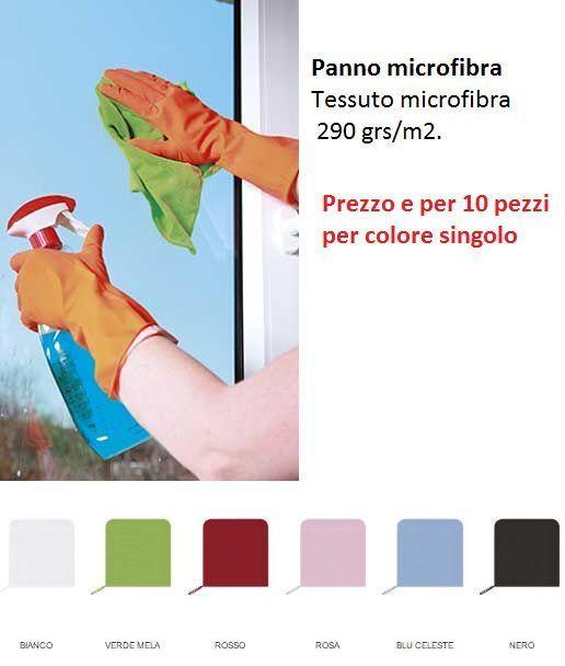 Panno In Microfibra Per Pulizia Auto Lavaggio Polvere 10 pezzi per colore