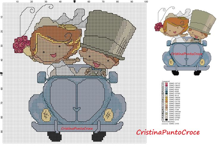 sposi in auto