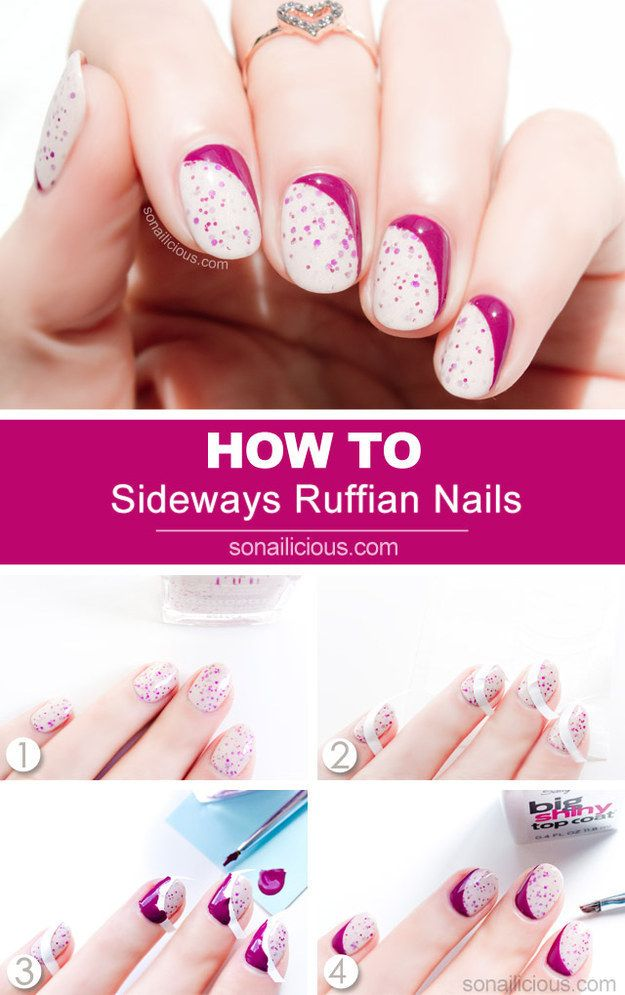 Sideways Ruffian Nails