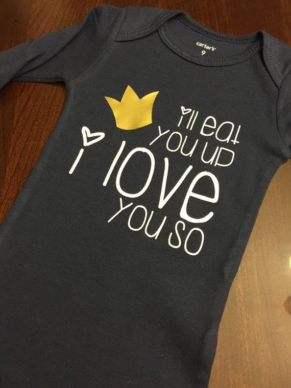 Baby Onesie Where the Wild Things Are by GraceKinleyDesigns