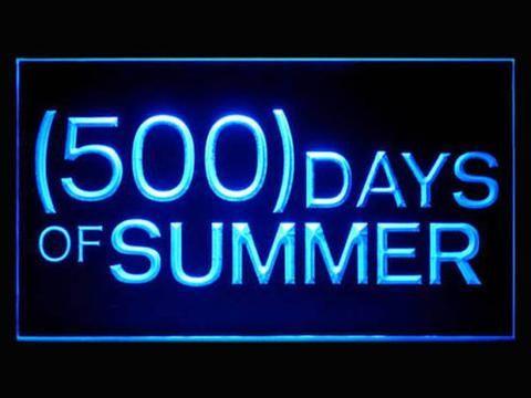 500 Summer Days LED Neon Sign www.shacksign.com