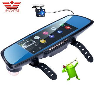 "ANSTAR Rearview Mirror Dash Cam GPS Navigation 6.86"" Touch Screen Full 1080P Android Parking Assistance Dual Lens Camera Car DVR (32691355385)  SEE MORE  #SuperDeals"