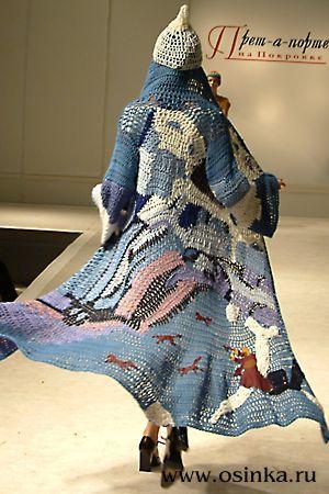 Картинка. Freeform crochet long jacket - inspiring!