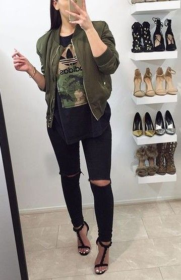 1000  ideas about Bomber Jacket Outfit on Pinterest | Bomber