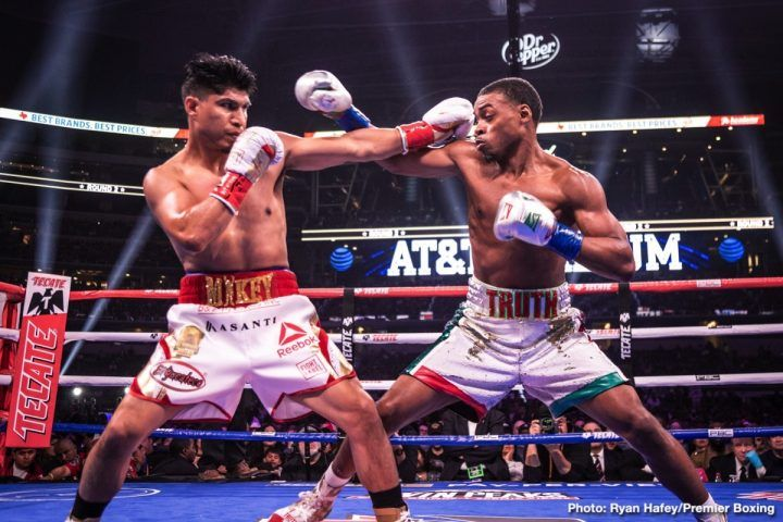 Errol Spence Masterful In Beating Mikey Garcia By Allan Fox Errol Spence Jr Looked Out Allthebelts Com All Martial Arts Photography Ringside Boxing Errol