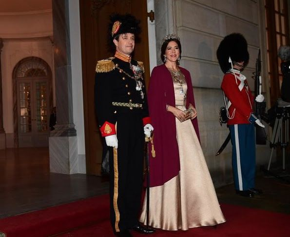 Newmyroyals:  New Year's Reception, Amalienborg Palace, Copenhagen, January 1, 2017-Crown Prince Frederik and Crown Princess Mary
