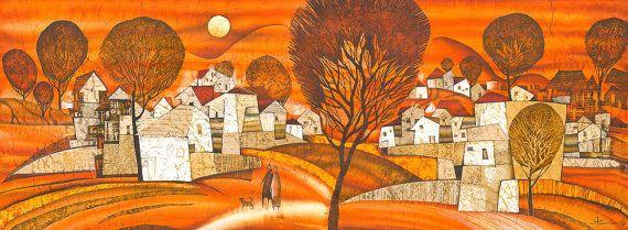 Orange Evening by IsmaArt on Etsy, $1250.00