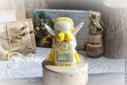 """Народные куклы ручной работы. Ярмарка Мастеров - ручная работа. Купить куколка-оберег Радостея""""Солнечный лучик"""".. Handmade. Желтый"""