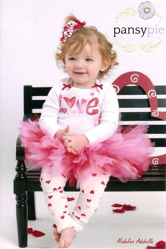 Baby Girl Valentines Outfit Valentines Day by PansyPieBoutique, $33.50
