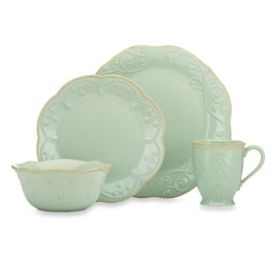 Lenox® French Perle 4-Piece Place Setting in Ice Blue - BedBathandBeyond.com