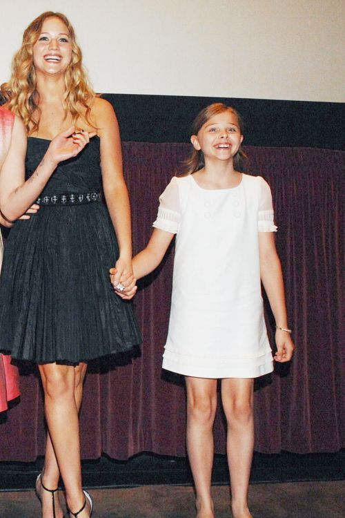 Jennifer Lawrence and Chloe Moretz at promotional event of The Poker House. who would have thought few years after they would fought for the role of Katniss...