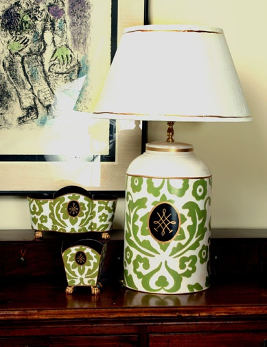 Dana GibsonFabulous Lamps, Green Damasks, Decor Ideas, Damasks Design, Classic Green, Gibson Palazzo, Gibson Collection, Dana Gibson, Chinoiserie Chic