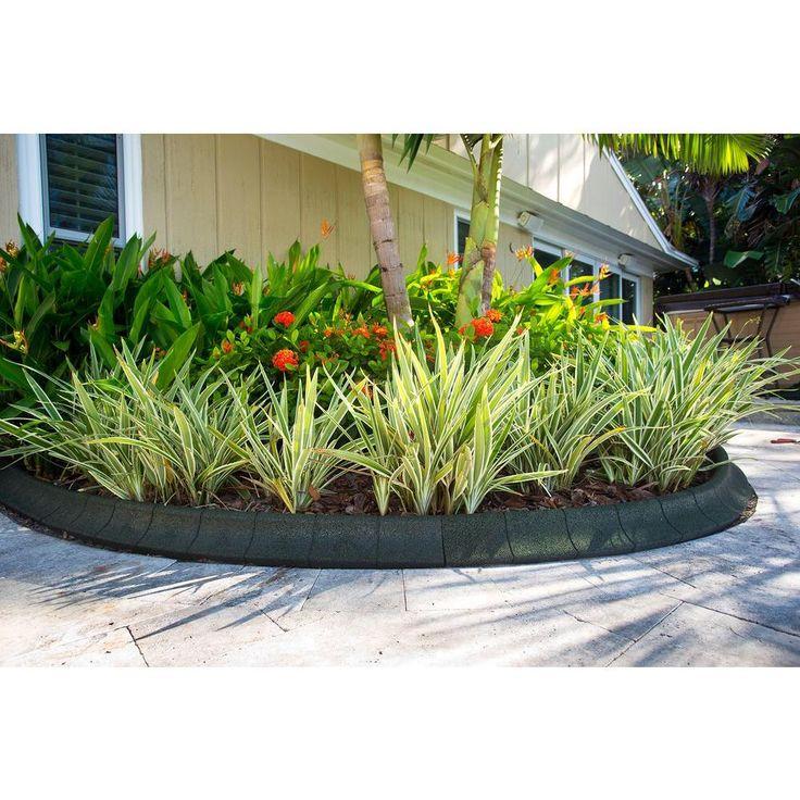 Ecoborder 4 Ft Black Rubber Curb Landscape Edging 4 Pack 400 x 300