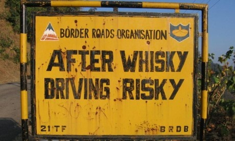 real road sign in India