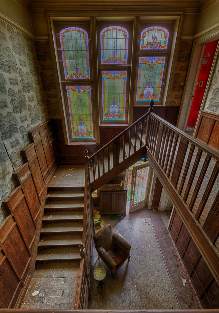 Not Only The Glass Is Stained In An Abandoned Mansion In Belgium