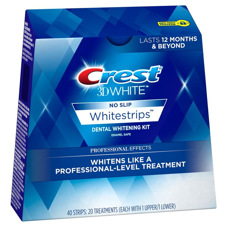 Crest 3D White Whitestrips Professional Effects Teeth Whitening Kit - 20ct