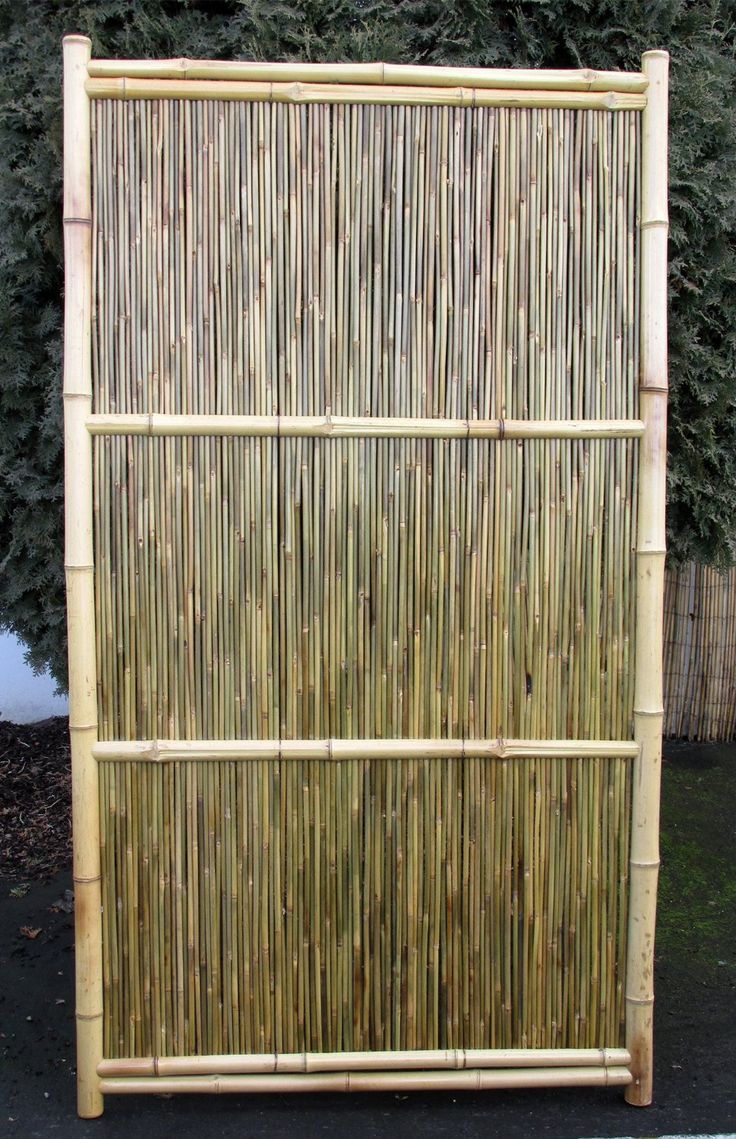 25 best bamboo fences images on pinterest bamboo fence for Outdoor bamboo screen panels