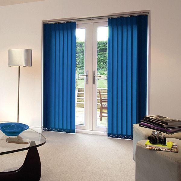 Cheapest Blinds UK | Bright Blue Vertical Blinds