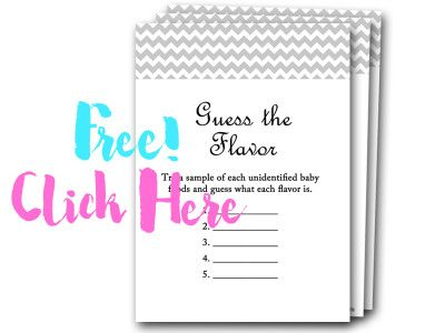 Guess The Flavor, Free Baby Shower Games