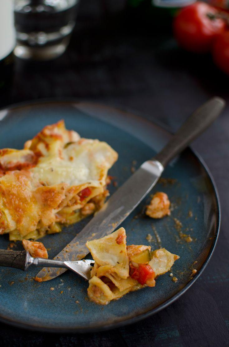Przepis na lasagne z kurczakiem i warzywami