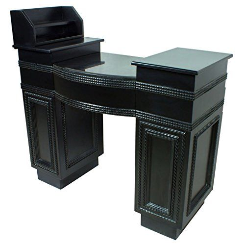 """Harrison"" Black Manicure Table With Granite Top Icarus http://www.amazon.com/dp/B00LCJQ5NO/ref=cm_sw_r_pi_dp_D7lLvb12MVNSQ"