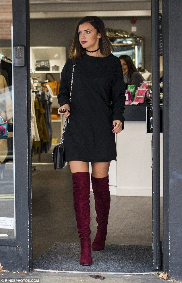 Working woman: The former girlfriend of gymnast Louis Smith wrote on her Twitter: 'I¿m working in @lucys_boutique today make sure u visit if you¿re in the area'