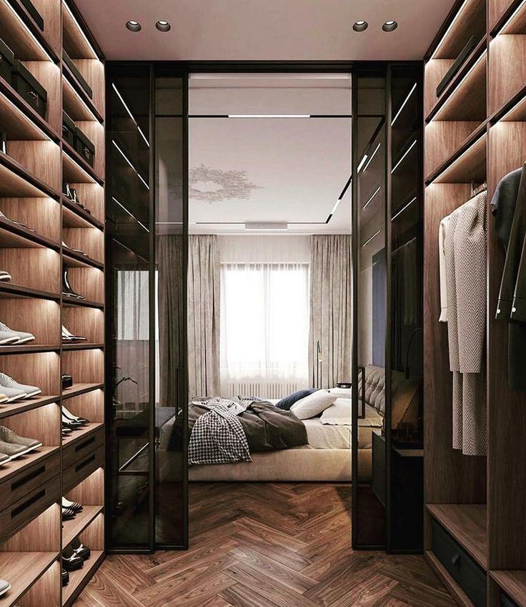 Schlafzimmerinspiration Begehbarer Kleiderschrank Interior