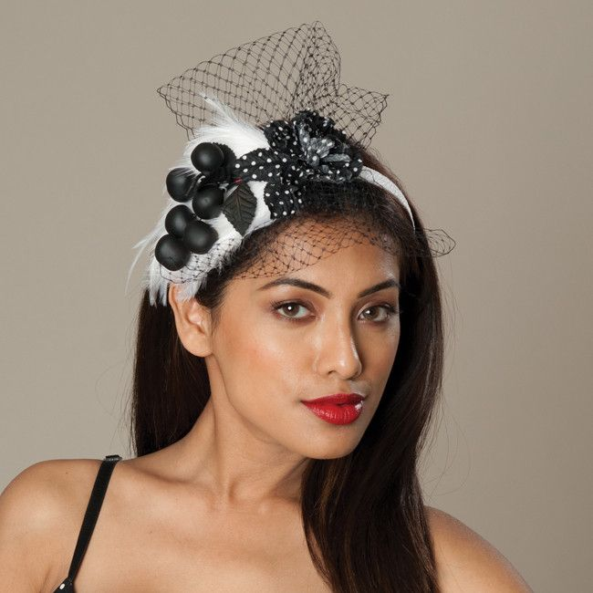 5174WY Whimsy, white w/ black – Louise Green Millinery
