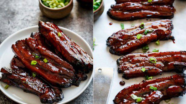Kdo má rád vypečený vepřový bůček, rozhodně by měl vyzkoušet tuto asijskou variantu. Marináda má díky hoisin omáčce specifickou chuť a v kombinaci s horkou miskou rýže je takto připravené maso neodolatelné!