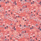 Laminate cotton - flowers pink