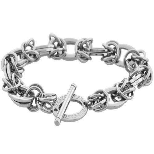Inox Jewelry 316L Stainless Steel Oval Chain Link Women's Bracelet INOX Jewelry. Save 57 Off!. $21.00