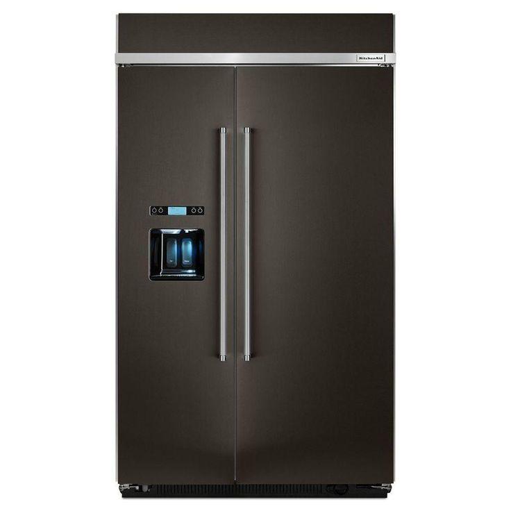 Kitchen Aide Black Stainless Refrigerator