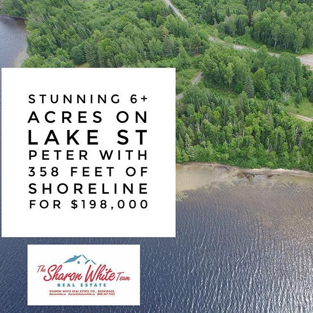 The glorious weather we had today, the first day of fall, makes us all want just a few more days at the lake.  Summer isn't quite over yet, eh?  With that, I invite you to look at this stunning 6+ acre vacant land with 358 feet of west-facing shoreline on